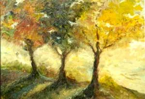 tiga pohon