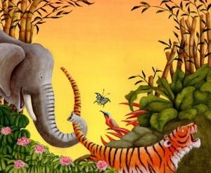 harimau dan gajah